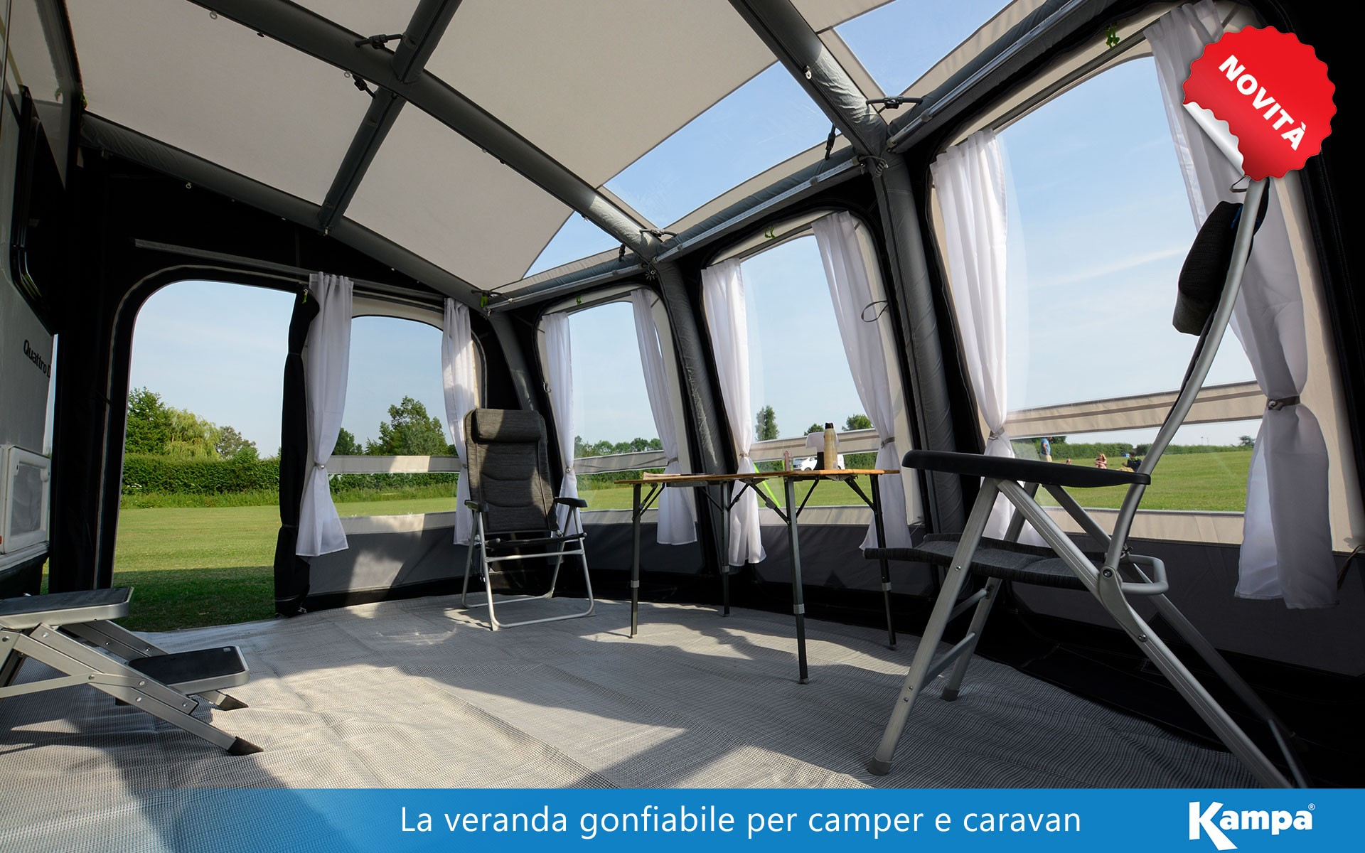 Veranda gonfiabile per caravan e camper